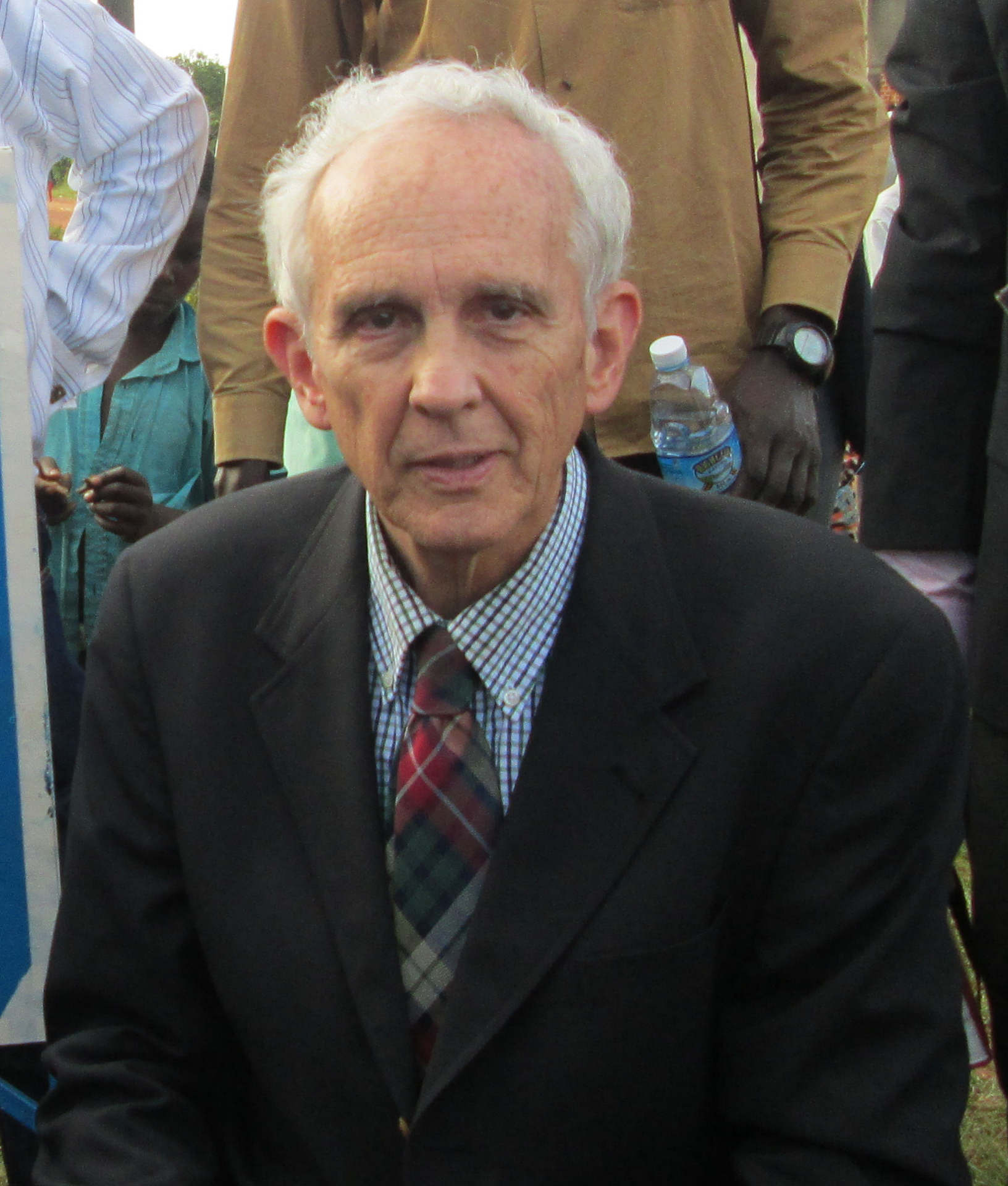 Dr. Gregory Bartha at the opening ceremony of the Cross Emergency Medical Clinic in rural Uganda
